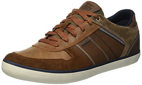 Geox Herren U Box C Sneaker, Braun (Browncotto/Navy C6gf4), 43 EU