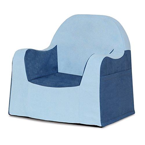 P\'kolino Little Reader, Sillón liviano y cómodo para el pequeño niño lector sillita para bebes con forro de microfibra resistente, Azul (Light Blue/light blue)