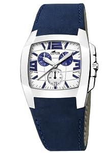 Reloj de caballero Lotus 15321-6 de cuarzo con correa de piel azul