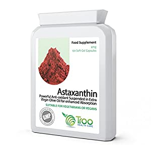 41QQzZfx4HL. SS300  - Natural Astaxanthin AstaPure Oil Supplement (42mg) - 120 Soft Gel Capsules - High Grade Strain Haematococcus Pluvialis…