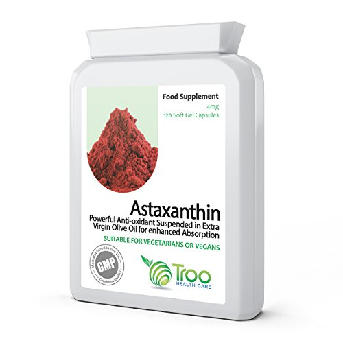 41QQzZfx4HL. SS500  - Natural Astaxanthin AstaPure Oil Supplement (42mg) - 120 Soft Gel Capsules - High Grade Strain Haematococcus Pluvialis…