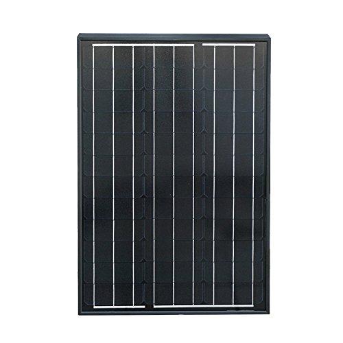 ECO-WORTHY 50W Monocristalino Panel Solar Fotovoltaico Módulo fotovoltaico para cargar la batería de 12 voltios