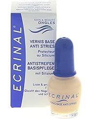 ECRINAL® - Vernis Base anti-stries au silicium - Lisse, embellit et protège l'ongle - flacon de 10ml.