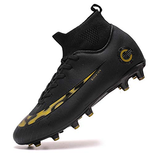 Mengxx Scarpe Sportive da Uomo Scarpe da Calcio da Uomo Scarpe da Calcio per Ragazzo Scarpe (44 EU, Black-AG-8)