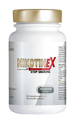 NIKOTINEX | Kapseln für die Raucherentwöhnung | erfolgreich aufhören | ohne Nikotin | Unterstützung für rauchen abgewöhnen | rezeptfrei erhältlich | made in Germany (60 Pillen)