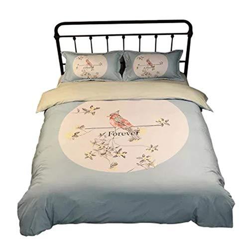 YJJSL Baumwolle-Bettwäsche-Set, Student Schlafzimmer einfache Mode Bettbezug-Set, Bauernhaus Stil Bettbezug Set-abnehmbare 3/4 Pices (größe : 2.0M) -