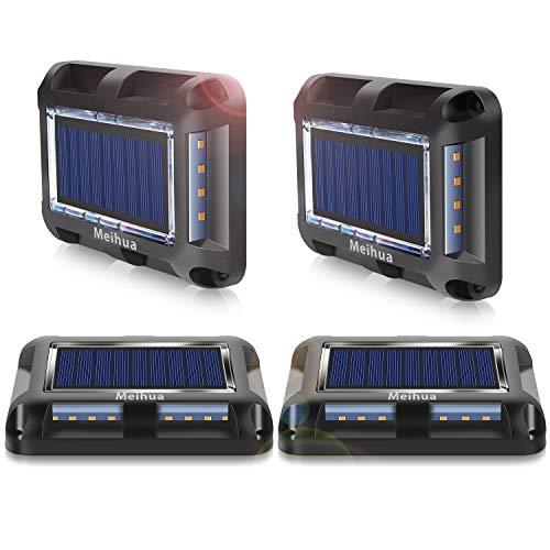 Spots solaire au sol avec autonomie Meihua, lampes solaires exterieures blanc chaud 3000K, Alimentation solaire Éclairage Décoratif sans fil etanche IP67 idéal pour jardin, sentier et piscine