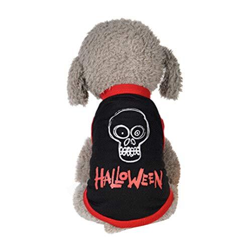 EUZeo Lovely Cool Halloween Stil Cute Pet Weste Kleidung Kleine Welpen Kostüm Haustier Katze Hund Pullover Gotisch Hundebekleidung Haustierpullover Hündchen Hundepullover Hundeshirts (Halloween-kostüme Medium Hund)