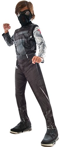 erdbeerloft - Jungen Karneval Kostüm Winter Soldier , Dunkelgrau, Größe 98-104, 3-4 (Black Widow Kostüm Comic)
