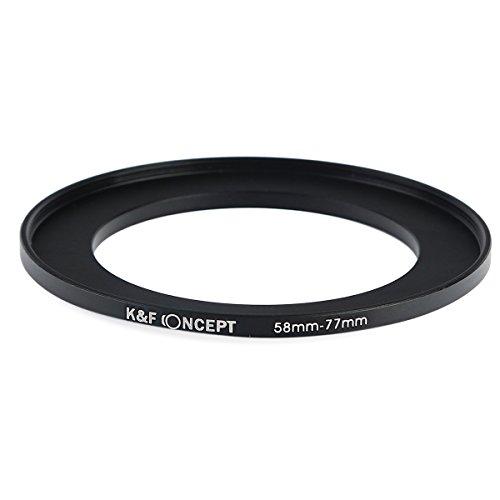 K&F Concept 58-77mm Passo Up anello adattatore 58 millimetri per