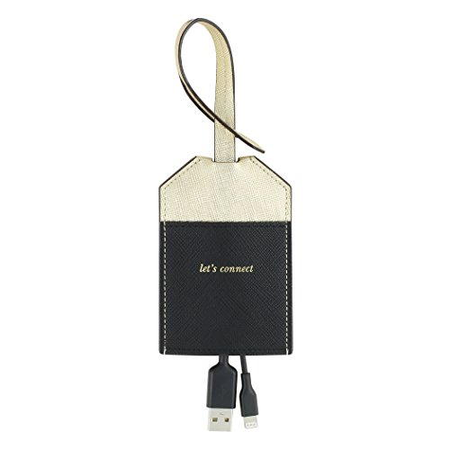 kate spade new york Portable, MFi Certified Disguised Lightning Cable to USB for Apple Charging - Gold/Black - Incipio Usb