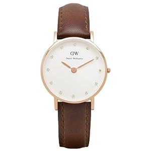 Reloj Daniel Wellington 0900DW de cuarzo para mujer con correa de piel, color marrón de Daniel Wellington