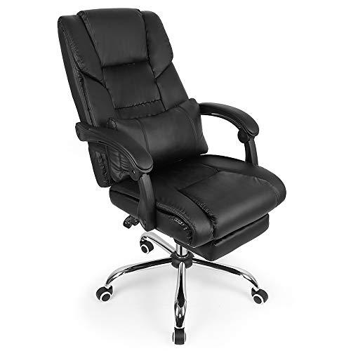 WARM ROOM Executive Boss Office Stuhl, ergonomische Liege Swivel Liftable Computer Game Stuhl mit Kissen Fußstütze Haushaltsstuhl (Executive Stuhl Kissen)