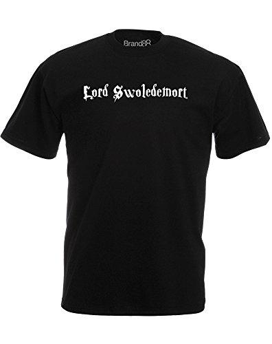 Brand88 - Brand88 - Lord Swoledemort, Mann Gedruckt T-Shirt Schwarz/Weiß
