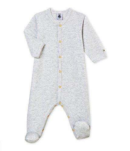 Petit Bateau Petit Bateau Baby - Jungen DORS BIEN_4366601 Schlafstrampler,, per pack Mehrfarbig (POUSSIERE/MARSHMALLOW 01), 62 (Herstellergröße: 3m/60cm)
