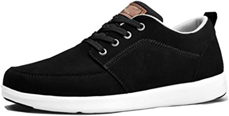 GRRONG Zapatos De Hombre Nuevos Zapatos Informales Cómodo Bajo Ayuda Y Bajo Talón,Black-41 -