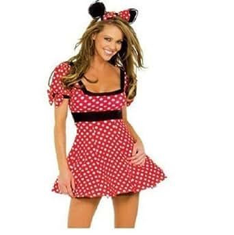 Autek Costume Cartoon Rôle-Play Sexy Minnie Mouse robe Dress 8101