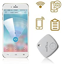 Sidiou Group Mini Bluetooth Rastreador Bolsa Niño Alarma Monedero Anti-perdido Rastreador Clave Pet Smart Buscador Mini GPS localizador de alarma para Android IOS (blanco)