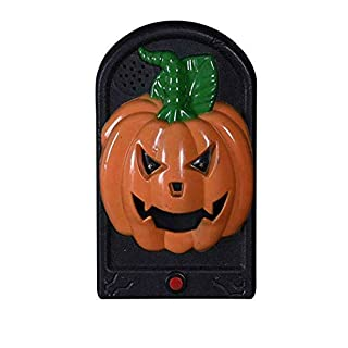 Leobtain Halloween Horror Doorbell Haunted House Dress Up Terrorist Taro Witch Vampire Glowing Whole Person Toy Midnight Screaming Doorbell Scary Tricky Toy