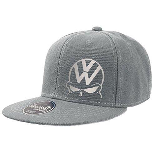 Fun Cap original Snapback grau VW Totenkopf silber