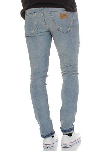 Just Junkies Jeans Men SICKO Super Blue Holes 984 Denim