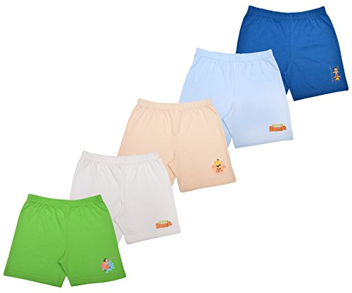 Luke and Lilly Cotton Shorts,Bottom for Baby boy and Baby girls - Pack of 5