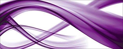 Artland Qualitätsbilder I Glasbilder Deko Glas Bilder 125 x 50 cm Abstrakte Motive Gegenstandslos Digitale Kunst Lila A6GA Abstrakte Komposition
