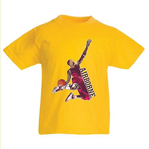 irt Sei der Herr der Schwerkraft, Basketball Freestyle Dunk - Ich Liebe Dieses Spiel (14-15 Years Gelb Mehrfarben) (Schiedsrichter Halloween-outfit)