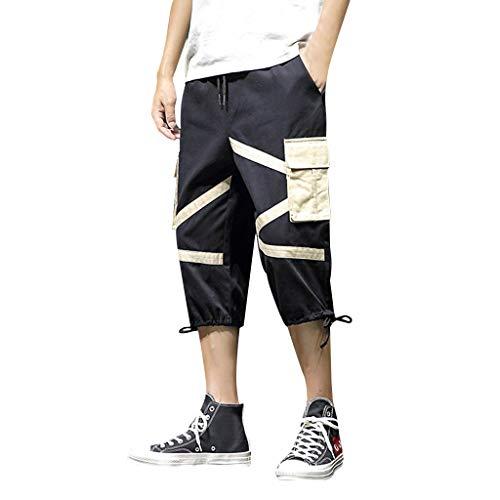 Gap Knit Pants (GreatestPAK Herren Bermuda Multi-Pocket Cargo Pants Sommer Neu Outdoor Sport Freizeit 3/4 Pants)