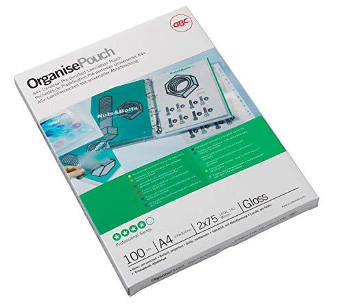 GBC Organise Laminiertaschen A4 oversize, 228x303, glänzend, 2x75mic