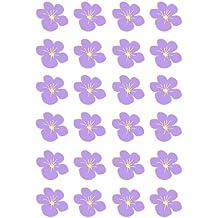 Vorgeschnittenen Lila Hawaii Blume Flach Essbarem Reispapier/Wafer Papier  Tasse Kuchen Topper Party Dekoration