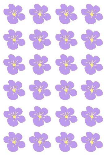 a Hawaii Blume Flach essbarem Reispapier/Wafer Papier Tasse Kuchen Topper Party Dekoration ()