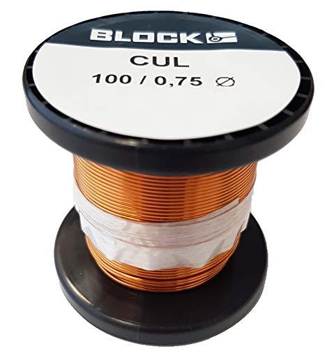 Block Kupferlackdraht Kupfer-lackdraht Kupferdraht Wickeldraht Kupfer Draht Basteldraht Cul (100/0.75)