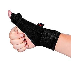 AOLIKES Thumb Splint Support Wrist Brace Strap for Trigger Finger Tendonitis Sprain Arthritis Strain NHS