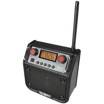 PerfectPro MyBox Baustellenradio/Outdoorradio mit AUX-Eingang, schwarz