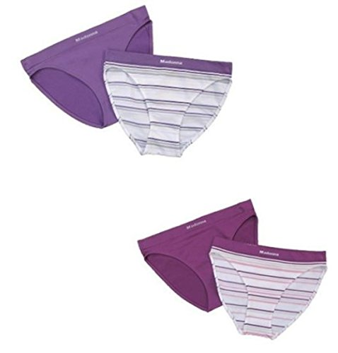 Seamless Damen Slips Rio Slip SET 2er oder 4er Unterhose nahtlos S bis L Rosa/Lila