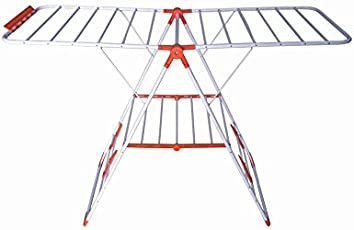 Bathla Mobidry EZE - Medium Size Foldable Clothes Drying Stand with Durable Metal Frame + Warranty