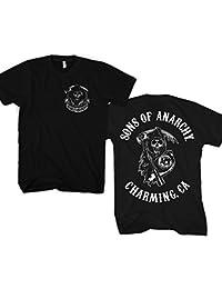 Officiellement Marchandises Sous Licence SOA Full CA Backprint T-Shirt (Noir)