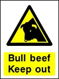 Bull Rindfleisch Keep Out Landschaft & Landwirtschaft Hinweisschild Vinyl Aufkleber Best auf eBay
