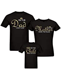 PepperClub Family Tshirt - Set of 3 For Mom Dad and Kid