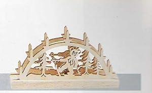 Kahlert Licht - 40607 - Decoración de Navidad - Madera Clara Arca Tallada - 3,5 V - Escala 1/12