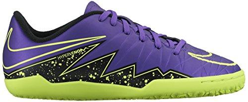 Nike Unisex-Kinder Hypervenom Phelon II IC Fußballschuhe, Morado/Negro/Verde (Hyper Grape/Hypr Grape-Blk-VLT-), 33.5 EU