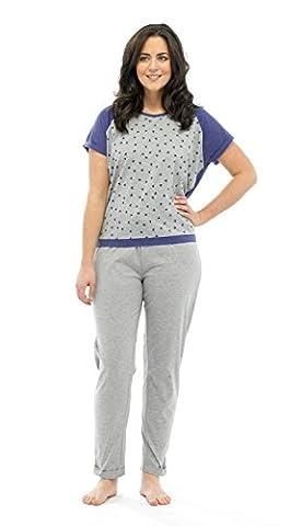 Femmes Tom Franks Star Dévoré T-shirt Top & Short Ensemble pyjama détente - - 44-46