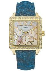 Guess Damen-Armbanduhr Analog Quarz Leder W12591L1