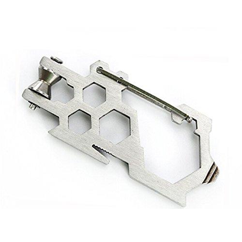 OneTigris EDC Edelstahl Flaschenöffner Karabiner Multifunktionswerkzeuge (2)