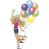 Mini Folienballon Barbie mit Ballons (luftbefüllt)