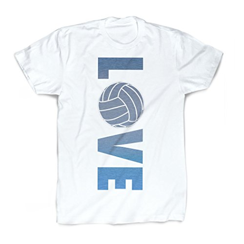 ChalkTalkSPORTS T-Shirt Love Volleyball, Vintage-Stil - Weiß - Erwachsene Large
