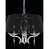 FPP WALTHAM - Lampadario in cristallo con 3 lampadine ,