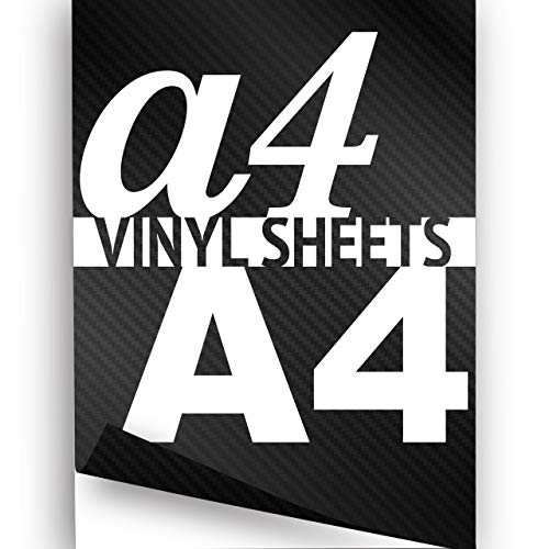 Preisvergleich Produktbild Selbstklebende Kohlefaser-Bögen,  Vinyl,  3 Stück,  Silber,  Größe A4 297 x 210 mm