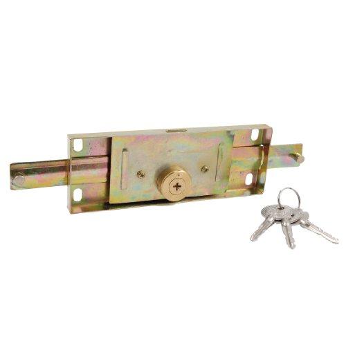 X-Dr Warehouse Gold Tone Metal Rolling Shutter Türschloss mit 3 Schlüsseln (c2f3dd18788e970fe11ec68993b7bf50)
